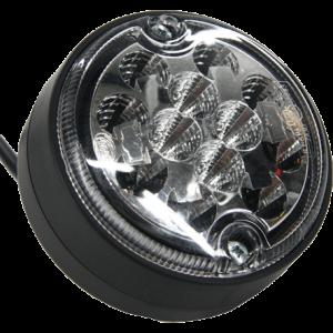 Achterlicht LED rond 102mm 12-24v. 3 functie