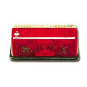 Markeringslamp rood/wit rechthoek 91x42mm Dasteri