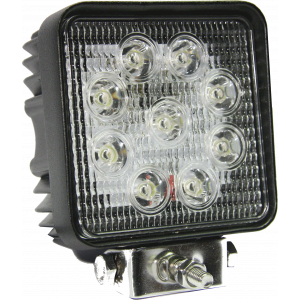 LED werklamp 27W 9 leds (30cm. kabel)