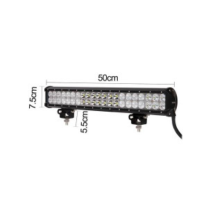 LED light bar 42 leds 126w triple combo beam