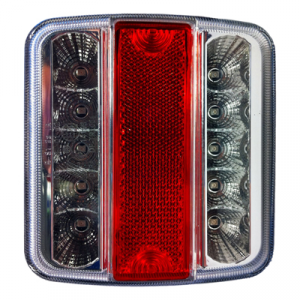 Led Achterlicht wit/rood/wit 11x11cm