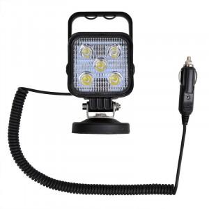LED werklamp 10-30V 15W met magneetvoet en spiraalkabel
