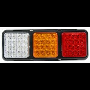 Achterlicht LED 4-functies incl. achteruitrij 12/24v