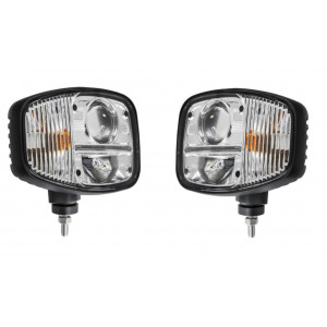 Koplamp LED met raw (set L+R) 12/24V E keur