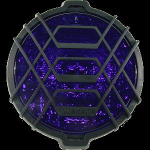 Werklamp Blauw met grill rond
