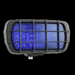 Werklamp Blauw met grill rechthoek