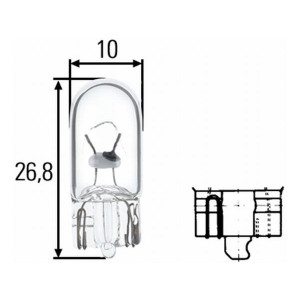 Lamp 24v 5w W2.1x9.5 d W5W