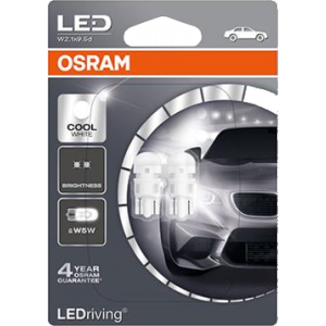 LED Osram 12VW5W 5W wBase (2 stuks)