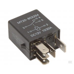 Micro relais wissel 12v 5-polig 10/20amp
