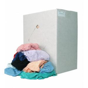Gewassen badstof/hoeslaken lappen doos a 8kg