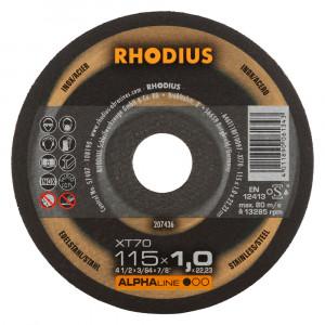 Doorslijp schijf 115x1,0mm RHODIUS