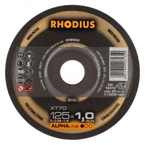 Doorslijp schijf 125x1,0mm RHODIUS