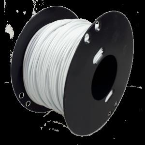 Kabel 1.0mmq wit 100 mtr.