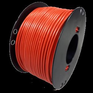 Kabel 6mmq rood 50m haspel