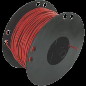 Kabel 0,75 rood 100 mtr. haspel