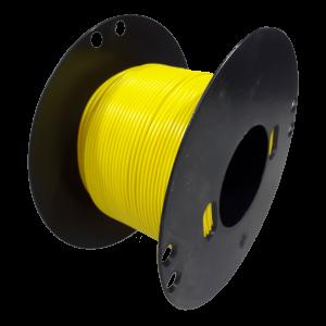 Kabel 0,75 geel 100 mtr. haspel