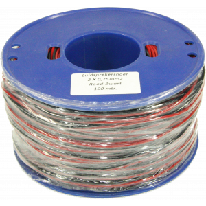 Luidspreker kabel 100m 2x0,75mmq