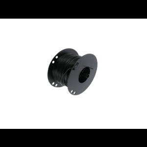 Kabel 1.0mmq zwart 100 mtr.