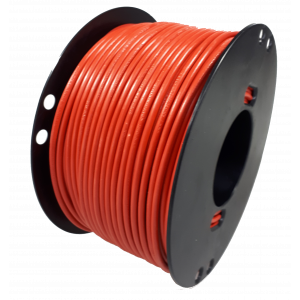 Kabel 1.0mmq rood 100 mtr.