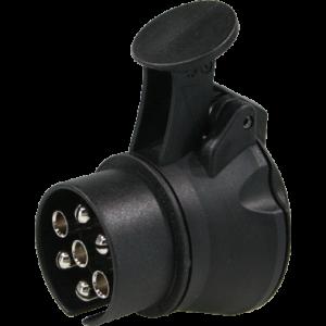 Verloop/adapter 7-polig > 13-polig doos m.deksel