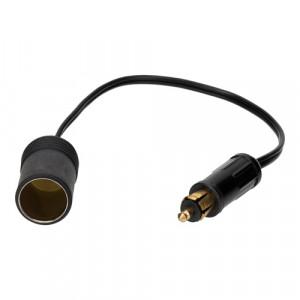 Adapter 1-polig stekker > sigaret plug 12/24v