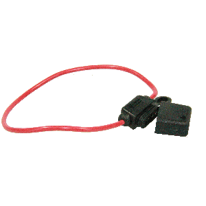 Zekeringhouder steek + kabel t/m 20amp
