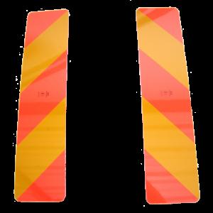 Reflectiestrepen alu. Rood/Oranje set á 2 st. 566x133 mm
