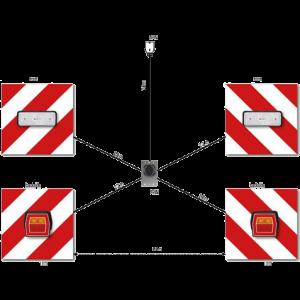 Lange lading bordenset 4 brd.met LED verlichting