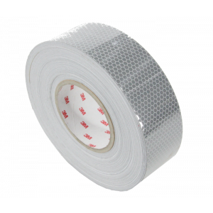 Reflecterende tape 50mm x 50mtr. wit E-keur