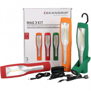 Scangrip MAG3 Actiepakket 3 st.