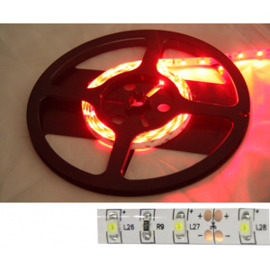 LED strip 4,8W 60 LEDS/m Rood 5m 24V