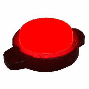 Markeringslamp LED rond rood neon