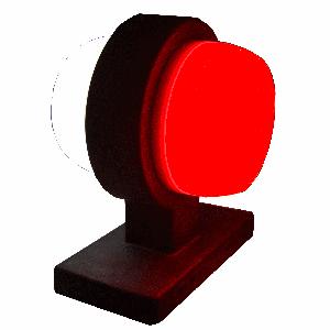 Markerings-breedtelamp LED rond kort neon