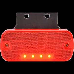 Markeringslamp LED rood met steun 12/24v