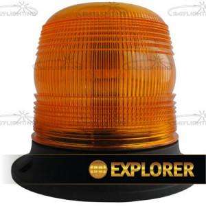 LED Flits/zwaailamp Amber ECE R65 10/30v