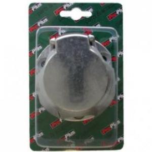 Stekkerdoos 7+1-polig metaal blister
