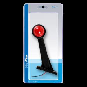 Markerings-breedtelamp schuin 160mm rood/wit blister
