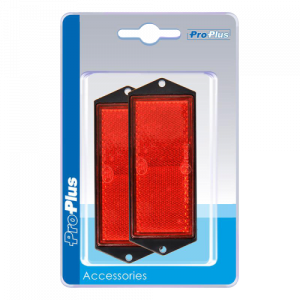 Reflector 90x40mm rood (2) blister
