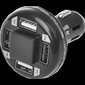 USB lader 4-weg 12/24v tbv aanstekerplug 4800mA