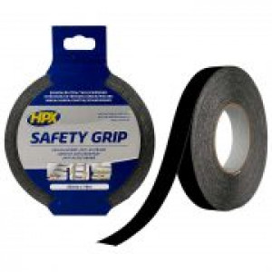 Tape safety grip 25mm 18 mtr zwart