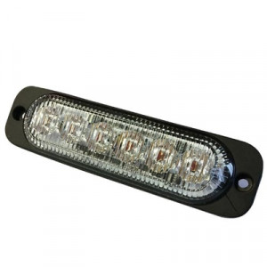 Stroboscoop 12/24v Amber 6 led plat model