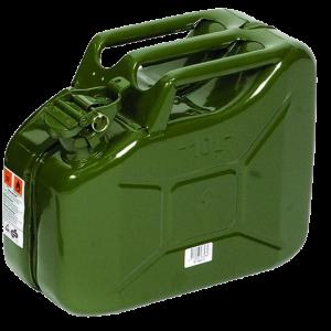 Jerrycan 10 Ltr. metaal groen