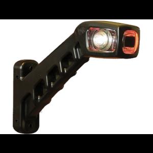 Markerings-breedtelamp LED rood/wit/oranje 238 links 12/24v